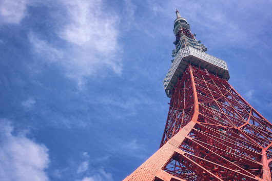 Looking up Tokyo Tower - DLifeJourney