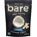 Bare Fruit Simply Toasted Crunchy Coconut Chips - 3.3 oz bag