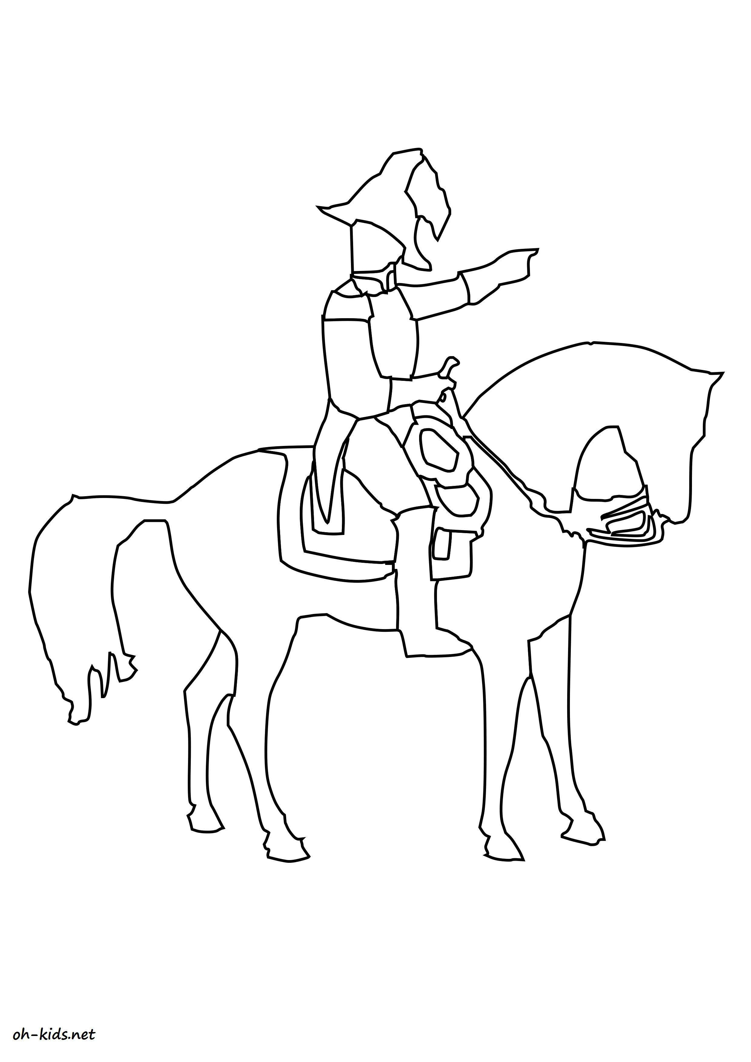 dessin de équitation Dessin 1371