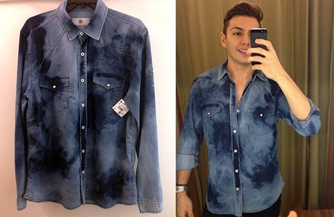 Camisas Jeans masculina para o inverno 2015