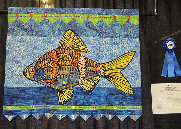 The Lunker by Janice M. Jones, Quilter's Treasure First Place