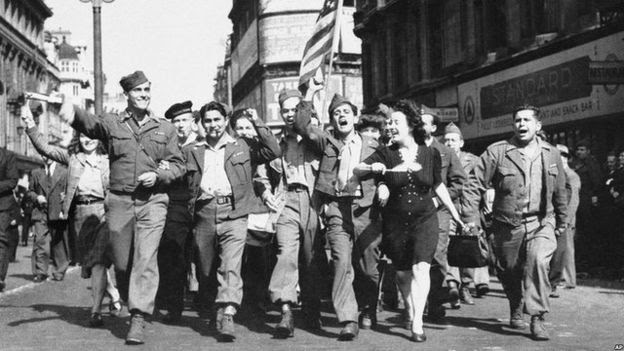 London servicemen celebrate
