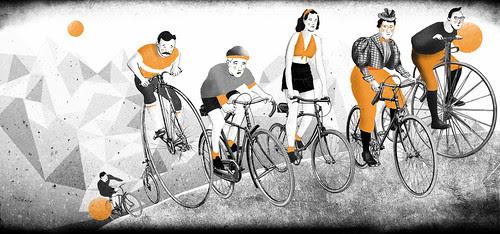 The sense of cycling by la casa a pois