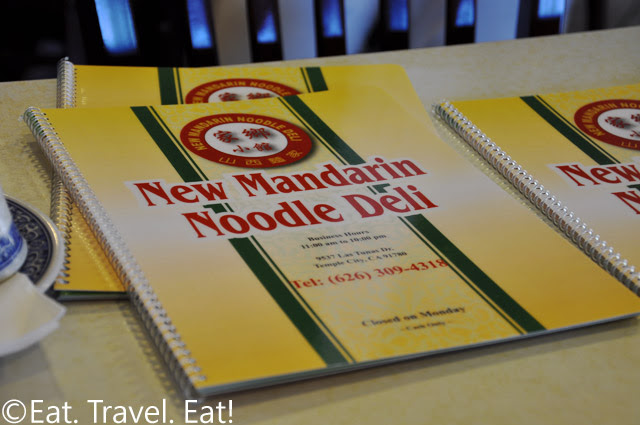 New Mandarin Noodle Deli Menu Cover