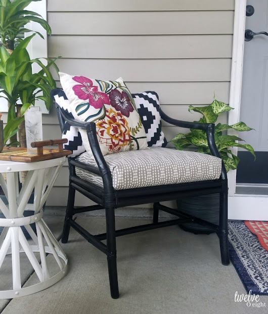 Boho vibe summer front porch