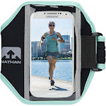 Nathan Super 5K Armband, Black/Cockatoo
