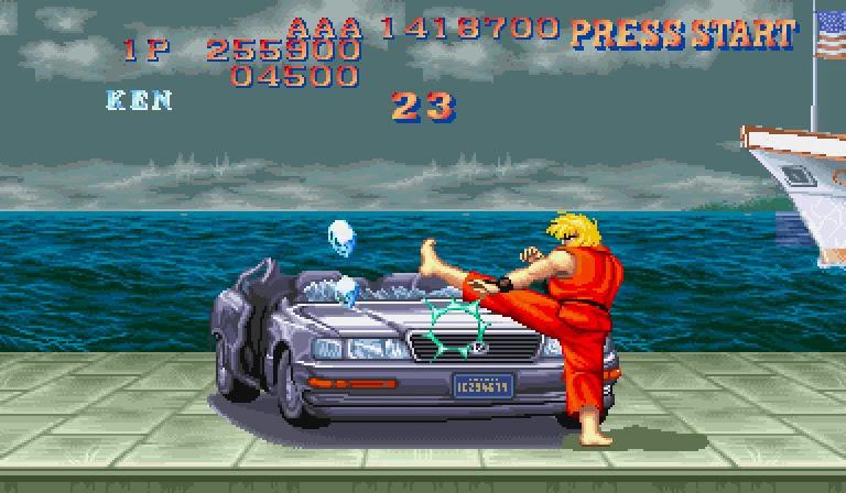Ken sf2 bonusstage car