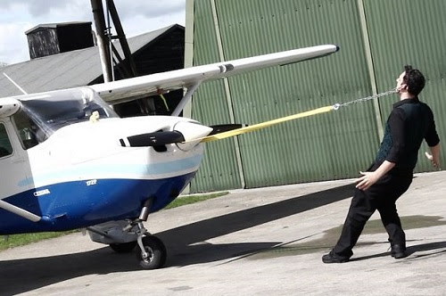 Man Sets Guinness World Record For Pulling AEROPLANE With His Ears  see photos