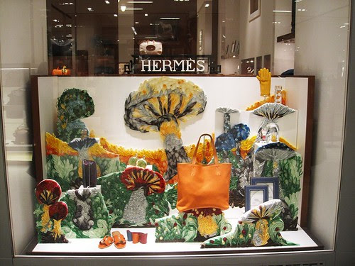 Quilled-Mushrooms-Hermès-Store-Window-Display
