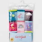 Girls' 8 + 1 Bonus Pack Hipster Briefs - Cat & Jack Blue 8, Girl's