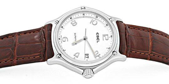 Foto 1, Ebel 1911 Senior Automatik Herren Uhr, Alligator Topuhr, U1367