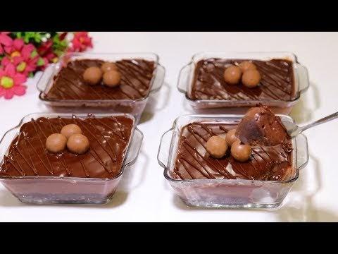 تحلية رمضانية باردة سهلة وسريعة في 10 دقائق بدون فرن ولا بيض ولا كريمة رووعة