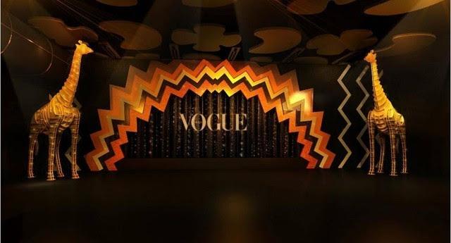 Pop África: a cenografia do Baile da Vogue 2016  (Foto: Reprodução/Instagram)