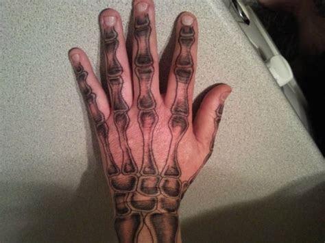 bone tattoos hands