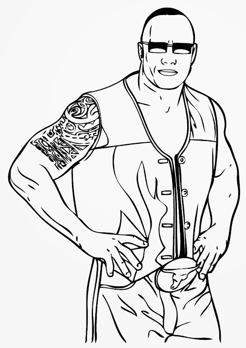 The Rock WWE Coloring Pages