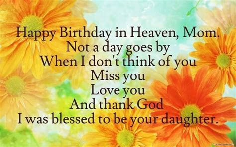 Happy Birthday On Heaven Mom From Your Daughter Pictures