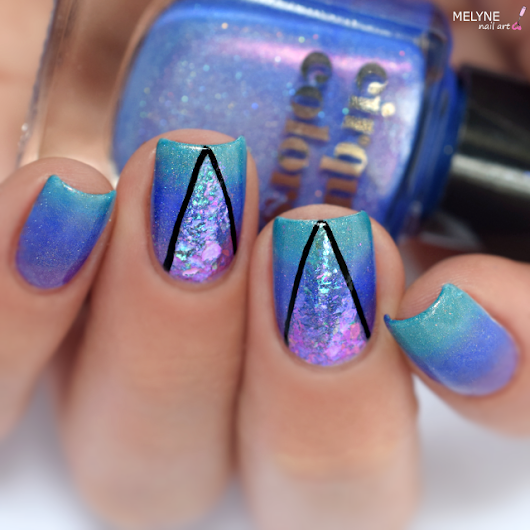 Gradient et Triangles Flakies Iridescents – TUTORIAL