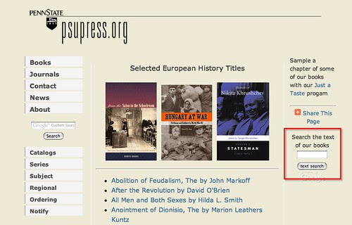 Penn State Google booksarch http://www.psupress.org/books/book_subject_eurohist.html