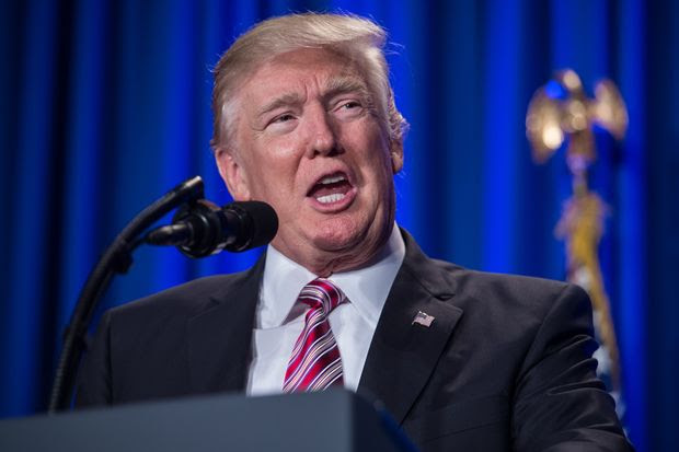 US President Donald Trump addresses a Republican retreat in Philadelphia on January 26, 2017.