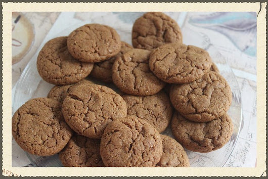 All vegan chewy ginger snaps