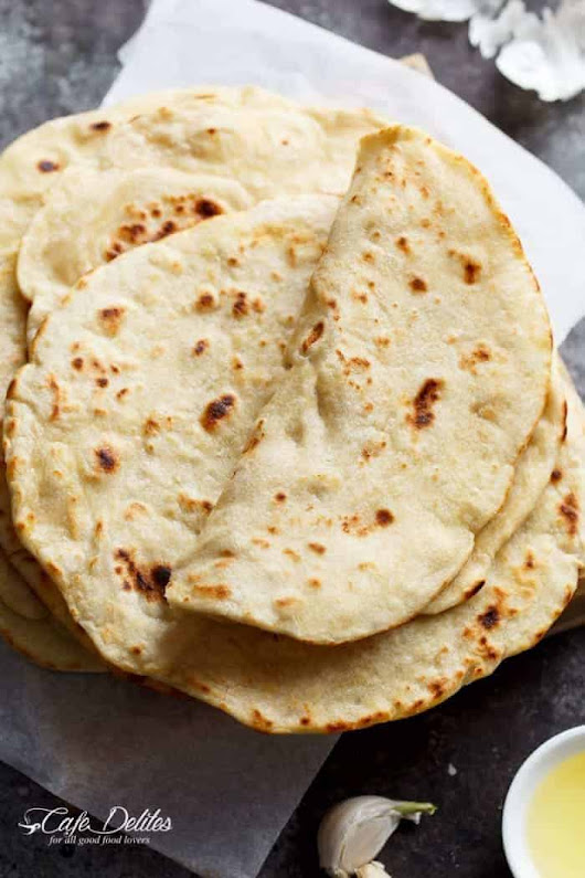 Easy Garlic Flatbread Recipe - Cafe Delites