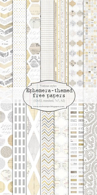 14 inch tall PREVIEW for free ephemera digi paper printables mel stampz