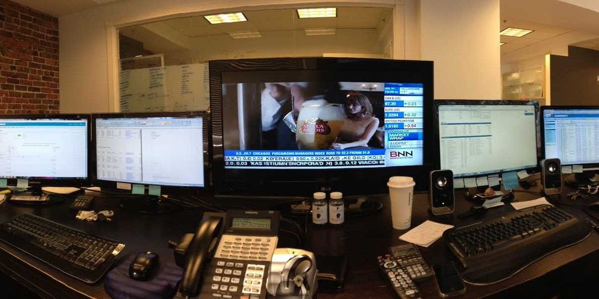 Trading Desk Photos Business Insider