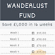 Wanderlust Fund - Save £1,000 in 16 weeks - AMALOG