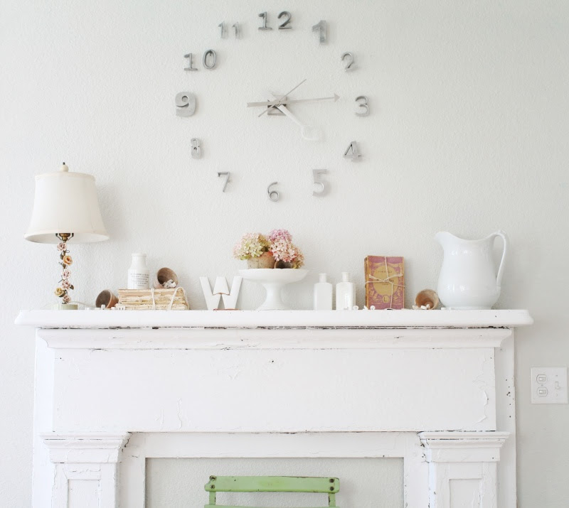 Cool DIY Wall Clock Of House Numbers | Shelterness