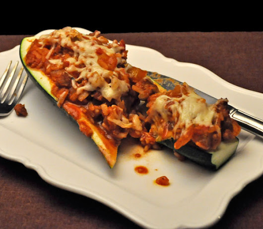 Chili Stuffed Zucchini; state of the potager - Thyme for Cooking, Blog