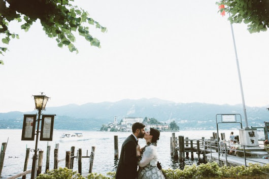 Italian Wedding on Lake Orta Inspired by Black & White Photography