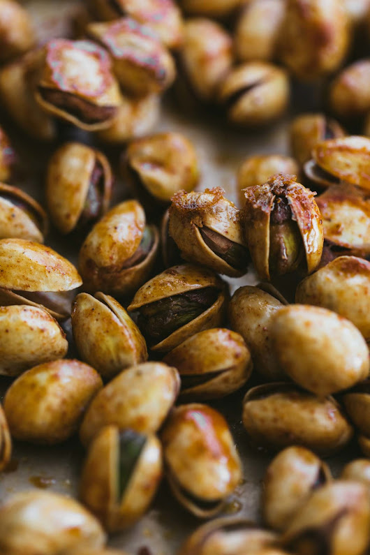 Berbere Roasted Pistachios | Naturally Ella