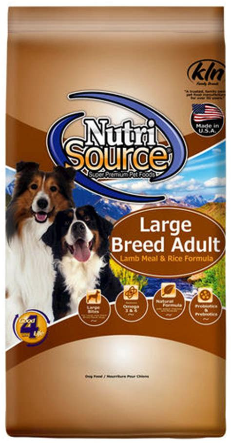 nutrisource lamb meal rice large breed adult dog food