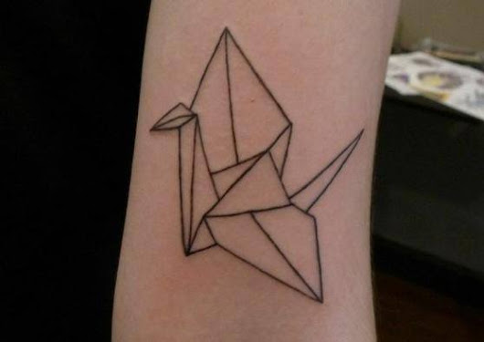 8 Origami Tattoos that Show Two Classic Arts Working Perfectly Together