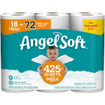 Angel Soft Toilet Paper, Mega Rolls - 18 count