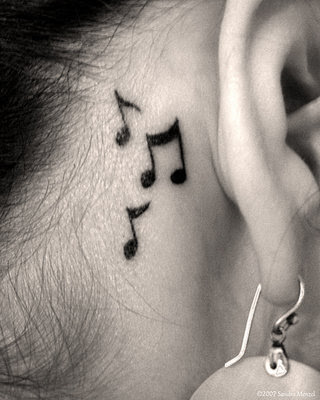 Music Note Tattoo Behind The Ear Tattoomagz