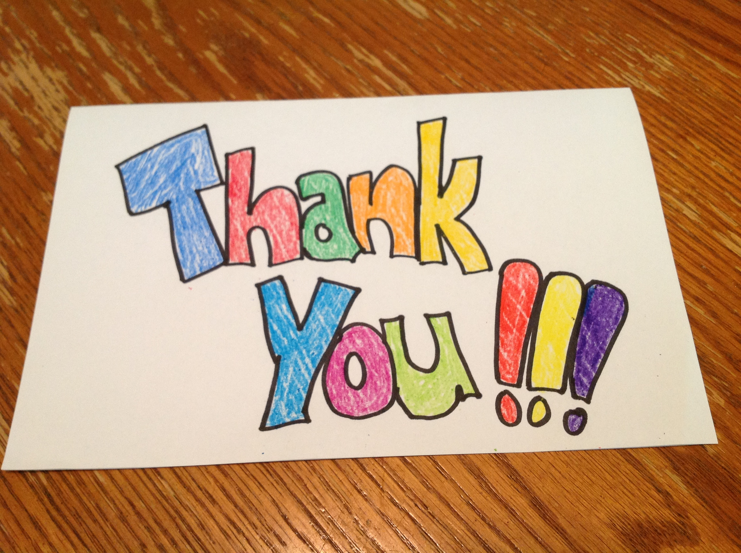 Thank You Note (from another Teacher who was once a ...