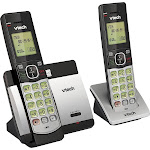 VTech - CS5119-2 DECT 6.0 Expandable Cordless Phone System - Gray/Black