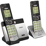 VTech - CS5119-2 DECT 6.0 Expandable Cordless Phone System - Gray/Black