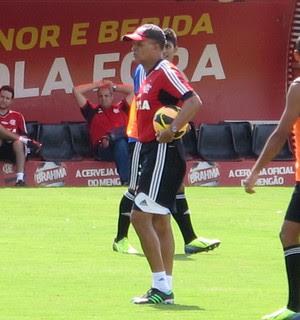 Jayme de Almeida treino do Flamengo (Foto: Richard Souza)