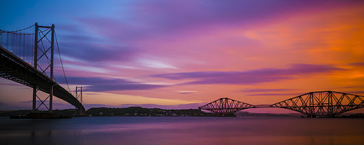 Forth Road And Railway Bridges, Queensferry, Fife, West Lothian, by Neil Alexander