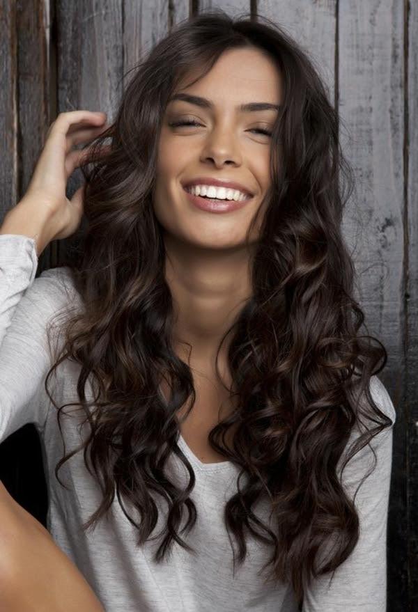Frisuren Mittellang Gelocktes Haar