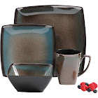 Gibson Select Tequesta 16 Piece Dinnerware Set, Brown Clay