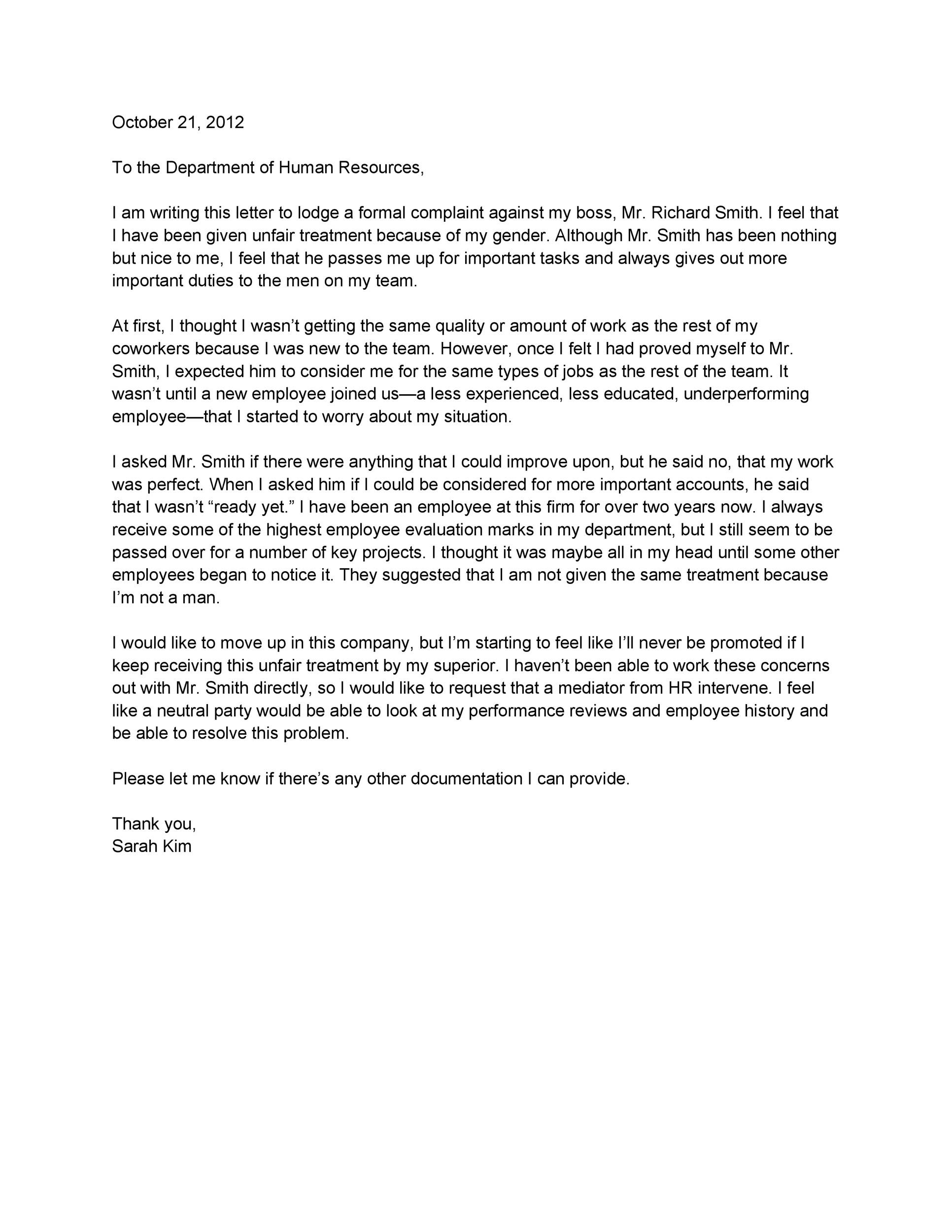 Sexual Harassment Complaint Letter from lh3.googleusercontent.com