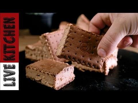 Παγωτάκια σάντουιτς μόνο με 3 υλικά (Συνταγή + Βίντεο)