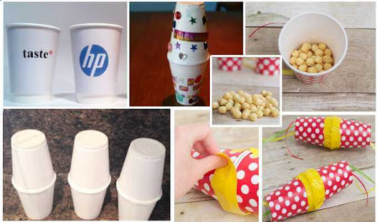 Paper Cups Maracas, paper cups for fun | Branded Paper Cups UK - 100% UK Manufacturer of Printed Paper Cups