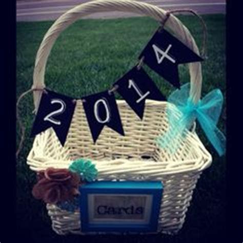 Graduation Party Card Basket. Personalized with my son's