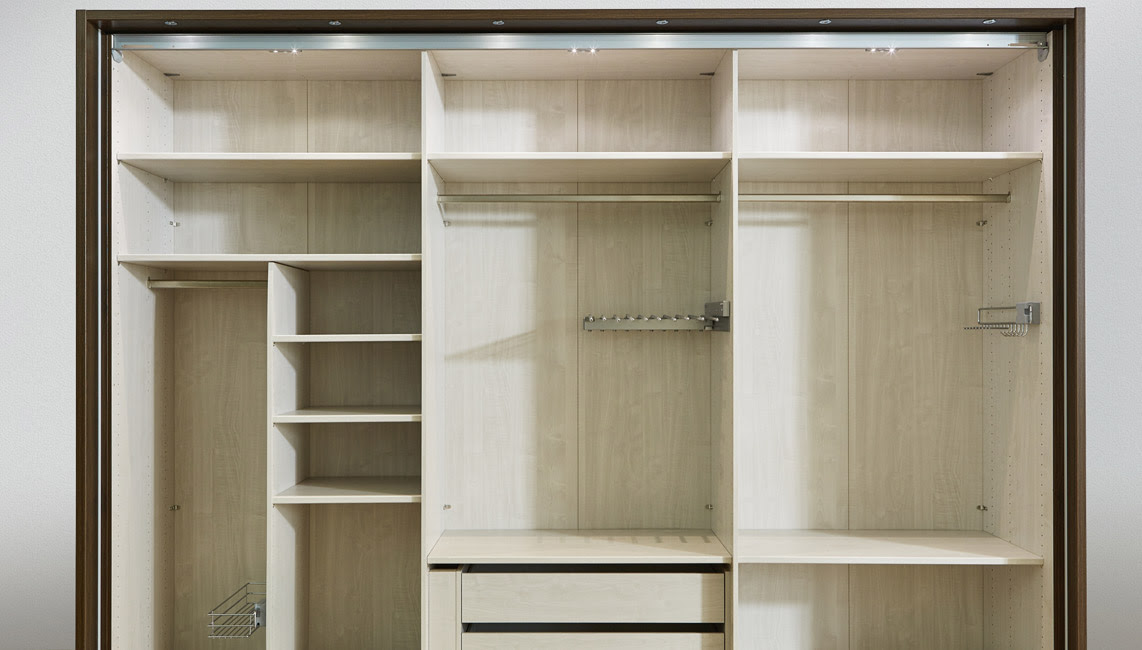 Typical Empty Interior Wardrobe Accessories by Wiemann