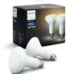 Philips Hue BR30 LED Smart Flood Single Bulb, White Ambiance - 2 pack