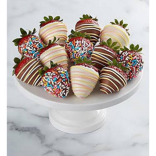 1-800-Flowers Hand-Dipped Birthday Strawberries Full Dozen Hand-Dipped Birthday Strawberries